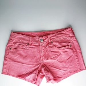 American Eagle Outfitters Pink Cutoff Jean Shorts